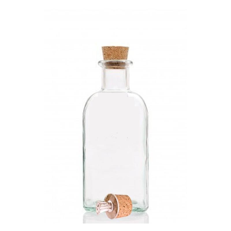 glasflasche 0 5 liter mit ausgie er leer 3 50. Black Bedroom Furniture Sets. Home Design Ideas